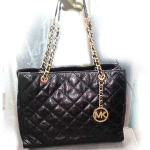 MK susannah large quilted leather bag